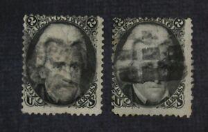 CKStamps: US Stamps Collection Scott#73 2c Jackson Used CV$130
