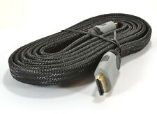 Kenable 3D TV Low Profile Flat HDMI 1.4 High Speed Lead BRAIDED 2m Cable in GREY