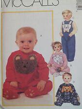 Darling Oop McCalls 7874 Infants Jumpsuits w Animal Aplq Pattern S-Xl/13-24lb Uc