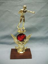 Boxer trophy theme riser cherry finish wood base