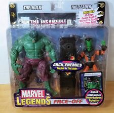 MARVEL LEGENDS FACE-OFF ACTION FIGURE PACK THE HULK & THE LEADER LONG HEAD CHASE
