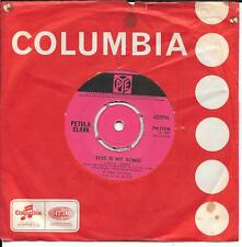 "45 TOURS / 7"" SINGLE--PETULA CLARK--THIS IS MY SONG / THE SHOW IS OVER ""UK PRESS"