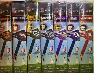 """NFL Kites 80"""" Tall Premium Ready to Fly Licensed Outdoor Nylon Team Kite"""