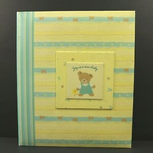 Carters Just One Year Baby Scrapbook Album Gender Neutral Gibson Discontinued