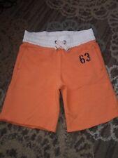 EUC Boys Medium  5 / 6 Land's End Orange Shorts French Terry Elastic Waistband