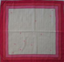 -Superbe Foulard VALENTINO  100% soie  TBEG vintage scarf 76 x 78 cm