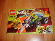 New listing Lego Power Miners 8188 Fire Blaster Instruction Manual