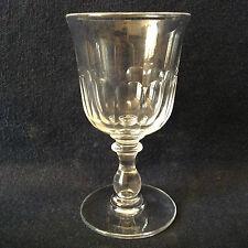 Baccarat H ± 11,6 cm verre cristal taillé jambe balustre bouton milieu XIX ème
