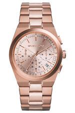 Michael Kors MK5927 New Women`s Chronograph Dials Channing Rose Gold Tone Watch