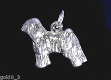 Terrier tibetano argento Sterling Charm charmmakers 3D