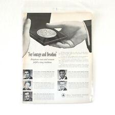 Vintage 1963 Bell Telephone System / Chrysler Air Flow Magazine Advertisement