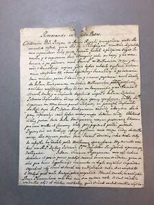 JESUIT ANTIQUE MANUSCRIPT ANCIENT DOCUMENT WITH STAMP 1756 YEAR