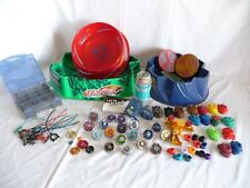 HUGE BEYBLADE Lot, Metal Spinners, Ripcords, Launchers, parts, 3 Stadiums