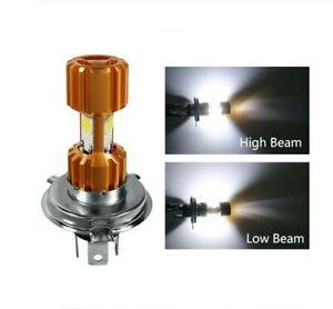Ampoule LED H4 pour scooter moto 6500K phare de Croisement et Plein phare 12V