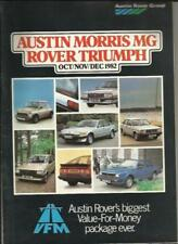 Morris Car Sales Brochures Paper 1982