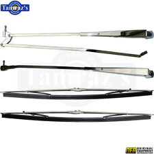70-74 for Mopar E-Body Correct Windshield Wiper Arm & Blade Kit - Bright Chrome