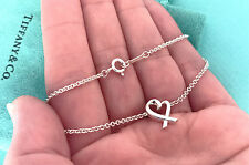 Tiffany & Co Paloma Picaso Loving Heart Sterling Silver Bracelet 7.5 Inch