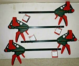 "4-Pieces 12"" Craftsman Forward / Reverse Bar Clamps - Quick Release -Woodworking"