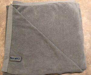 "Norwex Gray Bath Body Towel BacLock Microfiber 55"" x 27"""