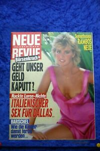 Neue Revue 44/87 vom 23.10.1987 Superbusen Rambos neue, Nackte Loren Nichte