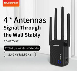Dual Band 1200Mbps Wireles Repeater WiFi Repeater/Extender Range Signal Booster