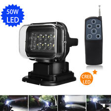 50W LED 360° MAGNATIC Search Light  Remote For Jeep Car Boat Spot Remote Control