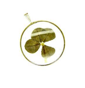 9ct 9k Gold Lucky Four Leaf Clover Locket Pendant
