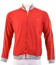 NIKE Mens Tracksuit Top Jacket UK 41/43 Large Red Cotton  GM21