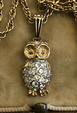 Vintage 1980s Owl Necklace Atwood And Sawyer