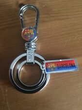 BARCELONA Football Club Crest Logo Metal Belt Clip Top Quality Key Ring