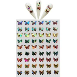 3D Butterfly Nail Stickers Art DIY Designs Decor Waterproof Decal Manicure US