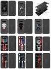 """Black Hybrid Tough Phone Design Case Belt Clip Holster FOR LG V60 THINQ 5G 6.8"""""""