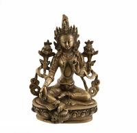 Soprammobile Tibetano Verde Tara Seduta Divinità Buddista 22 CM 2kg100 3877
