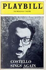 Costello Sings Again Playbill Elvis Costello 1986