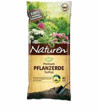 (0,37?/1l) NATUREN® Bio Premium Pflanzerde Torffrei 40 l Garten Balkon Erde