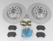 NEW GENUINE AUDI A6 S6 C6 REAR 302MM BRAKE DISCS + PADS SET - 4F0 098 601