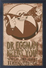 SONIC EGGMAN NEEDS YOU STEAM PUINK 13x19 FRAMED GELCOAT POSTER VIDEO GAMES SEGA!