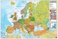 Maxi Poster Mapa Europa Pt Fisico Politico