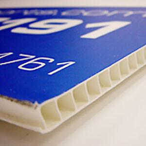 Corrugated plastic sheet / BOARD PRINTING FULL COLOUR 4MM MATT PRINTED