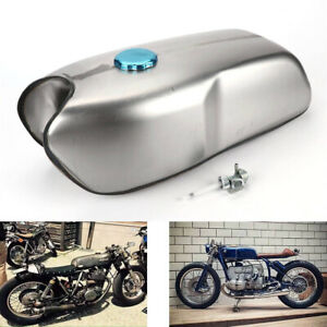 Steel  Cafe Racer Universal 9L/ 2.4 Gallon Gas Fuel Tank for BMW Yamaha Honda