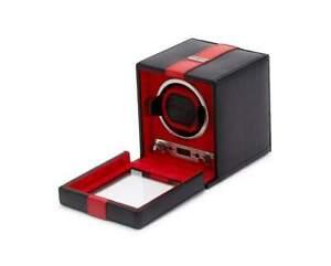 WOLF RedBar Single Watch Winder With Locking Glass Cover 800661