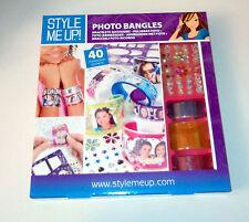 Style Me Up! Faites votre propre photo Bracelets Acrylique Bracelets Strass Stencils