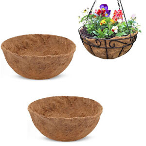 Round Coco Liner For Hanging Basket Coconut Fiber Planter Inserts Replace Liner