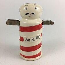 Ceramic Barber Pole Razor Blade Bank Holds Shaving Brush Razor Gay Blade Japan