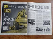 1960 GM General Motors Trucks Ad All Purpose Power Line  GM Diesel