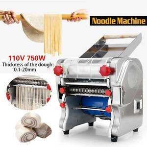 USA Commercial Electric Dough Roller Noodle Pasta Dumpling Maker Machine 110V