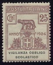 ITALY 1924 FRANCHISE VIGILANZA OBBLIGO SCOL.MINT UNMOUNTED