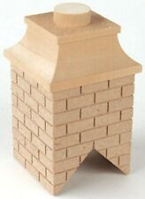 Dollhouse HouseWorks Top Mount Wood Brick Chimney 1/12 Scale #HW2408