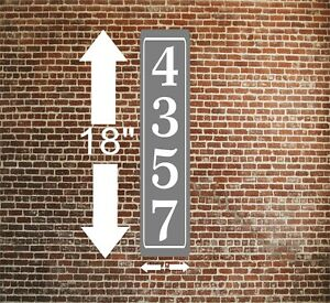 """Personalized Home Address Sign Aluminum 4"""" x 18"""" Custom House Number Plaque sq38"""