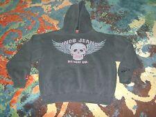 JNCO JEANS Vintage 90s MEDIUM Hoodie SKULL Black GOOD CONDITION Baggy SKATER